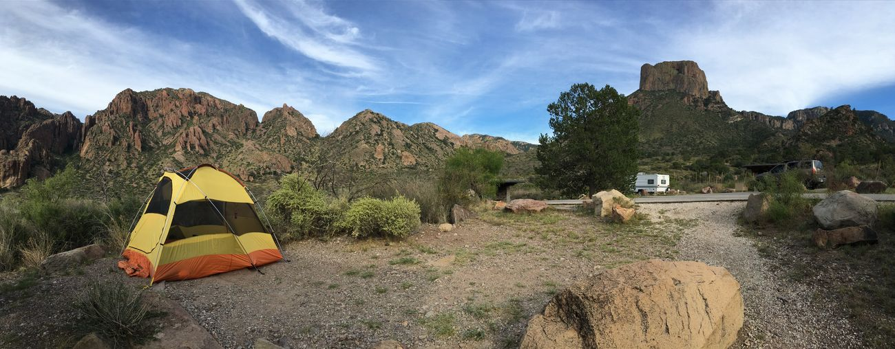 The Chisos Basin Pano IPSWeather Iphonephotography Big Bend National Park IPhone 6s Plus Snapseed West Texas Skies Clouds