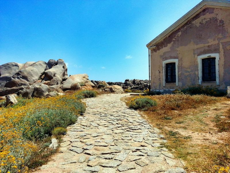 Sardinien Sardegna Sardinia Italy Italia Italien Costa Smeralda Way Samsungphotography Rock - Object Lonely Lost In The Landscape Vacations TheWeekOnEyeEM Beauty In Nature Outdoors No People Nature Day Sky Building Exterior Building House Summer Sommer
