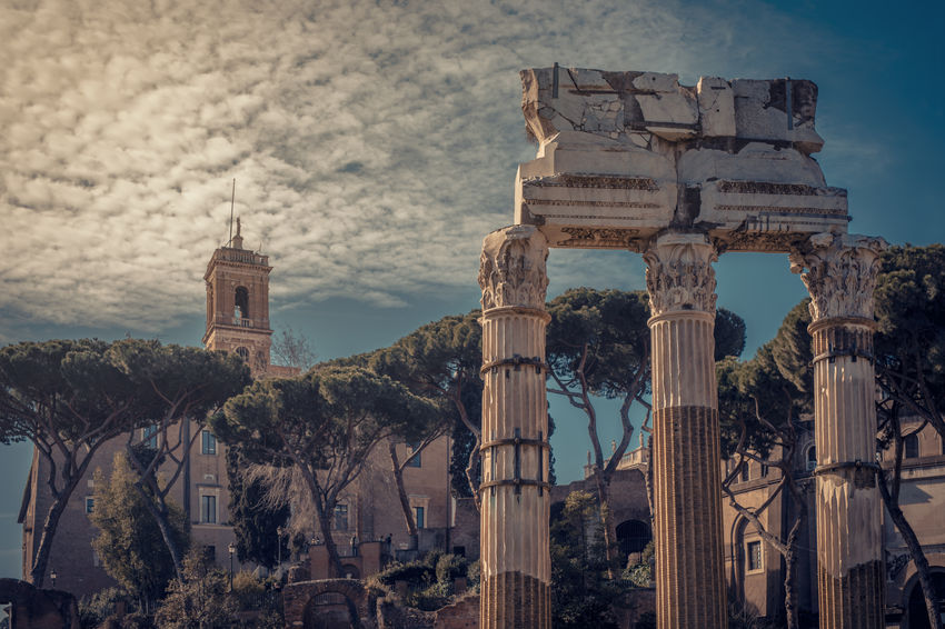 Summer Evening in Rome Rome Ancient Ancient Civilization Archaeology Architectural Column Architecture Building Building Exterior Built Structure Centro Historico City Cloud - Sky History Italy Lazio Nature No People Old Old Ruin Outdoors Sky The Past Tourism Travel Travel Destinations