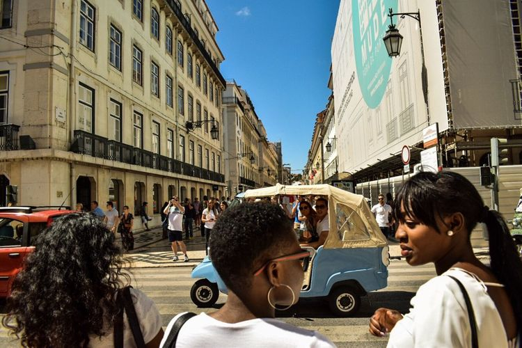 People City Large Group Of People Outdoors Real People Building Exterior Street Photography Streetphotography Lisbon Lisboa Portugal Street City Sky Travel Destinations