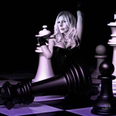 Game Time  Lets Play Chess Imagination Collection Sport Portret Blackandwhite Model Pion Board Games Concentration Playing Woman
