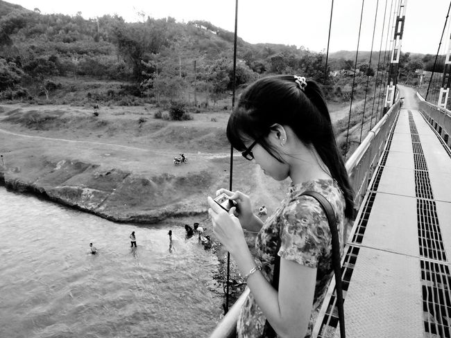 My Sister Black & White The River EyeEmNewHere Mobile Conversations