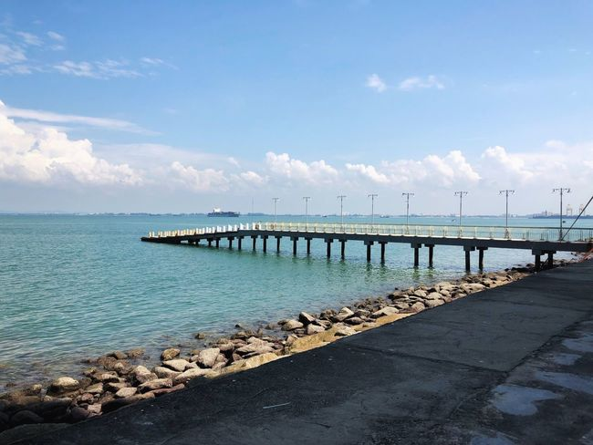 The pier behind E&O Hotel in Penang, Malaysia Penang Beauty In Nature Cloud - Sky Nature Pier Scenics - Nature Sea Sky Tranquil Scene Tranquility Water