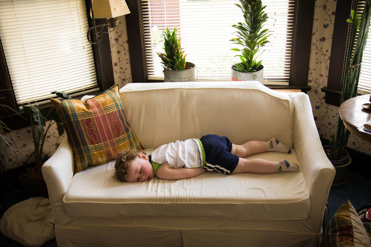 Baby Childhood Day Eyes Closed  Full Length Indoors  Lying Down Napping One Person People Pillow Real People Sleeping Sleeping Baby