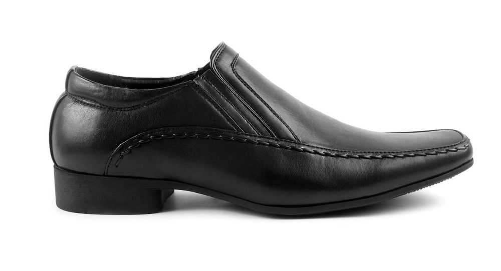 Black Color Close-up Day Dress Shoe Fashion Formalwear High Heels Indoors  Leather No People Pair Shoe Studio Shot White Background