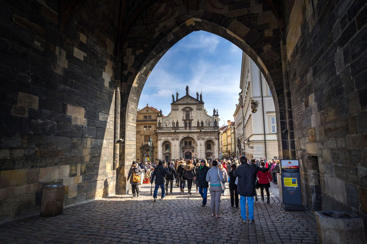 Arched entrance of old town from charles bridge