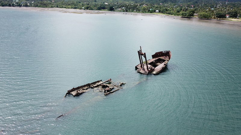 The wrecked warship of World War 2 at Kao, North Halmahera, North Maluku (Mollucas) Aerial Shot City DJI Mavic Pro DJI X Eyeem Drone  Aerial View Animal Themes Beach Beauty In Nature Day Dji Flying High Angle View Maluku  Maluku Utara Mavic Pro Nature Nautical Vessel No People Outdoors Sea Transportation Water