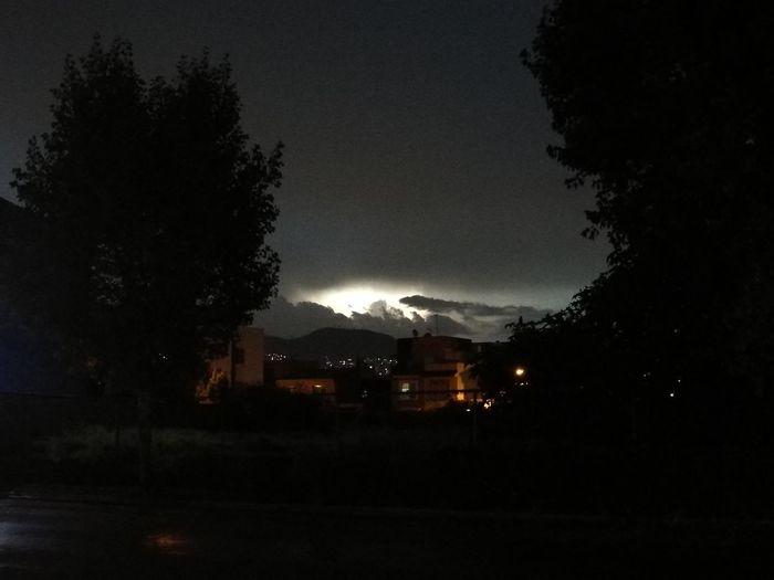 Night Storm Cloud Sky Tree