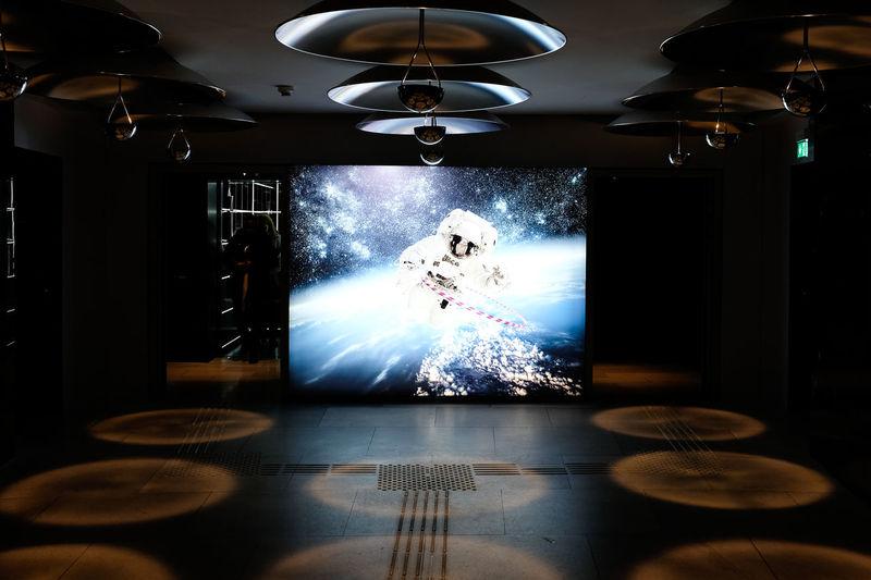 Digital composite image of illuminated lighting equipment