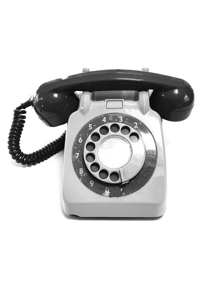 Old-fashioned Telephone Communication Telephone Receiver Rotary Phone Landline Phone White Background Single Object Antique Obsolete Dial Telecommunications Equipment Telephone Line Phone Cord Phone Old-fashioned Old Technology Studio Shot Blackandwhite Black And White Black & White Blackandwhite Photography Black And White Photography Black&white Copy Space Black And White Friday