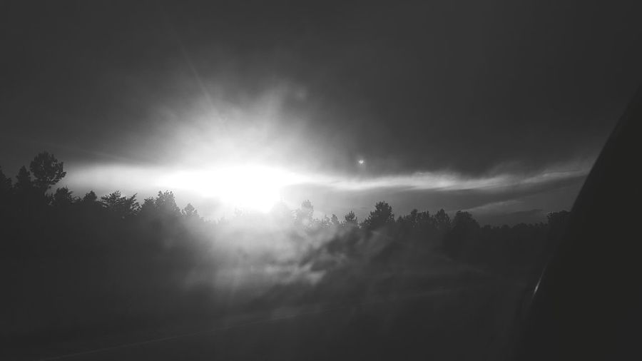B&w Nature Black And White Black And White Photography B&w Photo Samsung Galaxy S6 Edge View From The Window... Capture The Moment Samsungphotography Taking Photos Driving In My Car Sun ☀ Clouds And Sky Sunshine Sunlight And Shadow