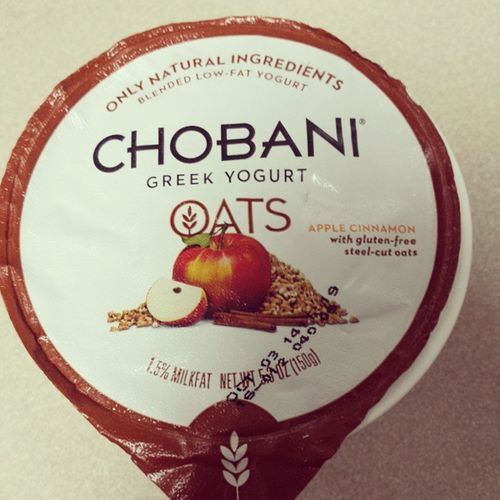 We have another Chobaniflavorfail this time because of the oats. They're similar to hard tapioca. The apple cinnamon part is delicious though! Made me long for fall... ???