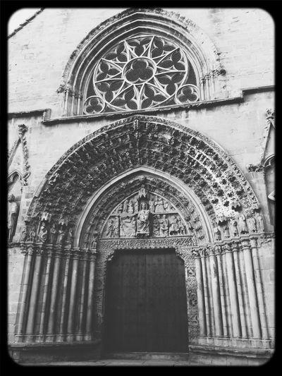 Church Olite SPAIN Blackandwhite
