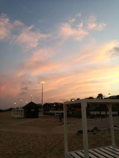 Oil Pump Sunset Beach Sky Cloud - Sky Built Structure Shore Sand Slide - Play Equipment Outdoor Play Equipment Horizon Over Water Calm Sand Dune Sandy Beach Water Slide Slide Seesaw Hooded Beach Chair