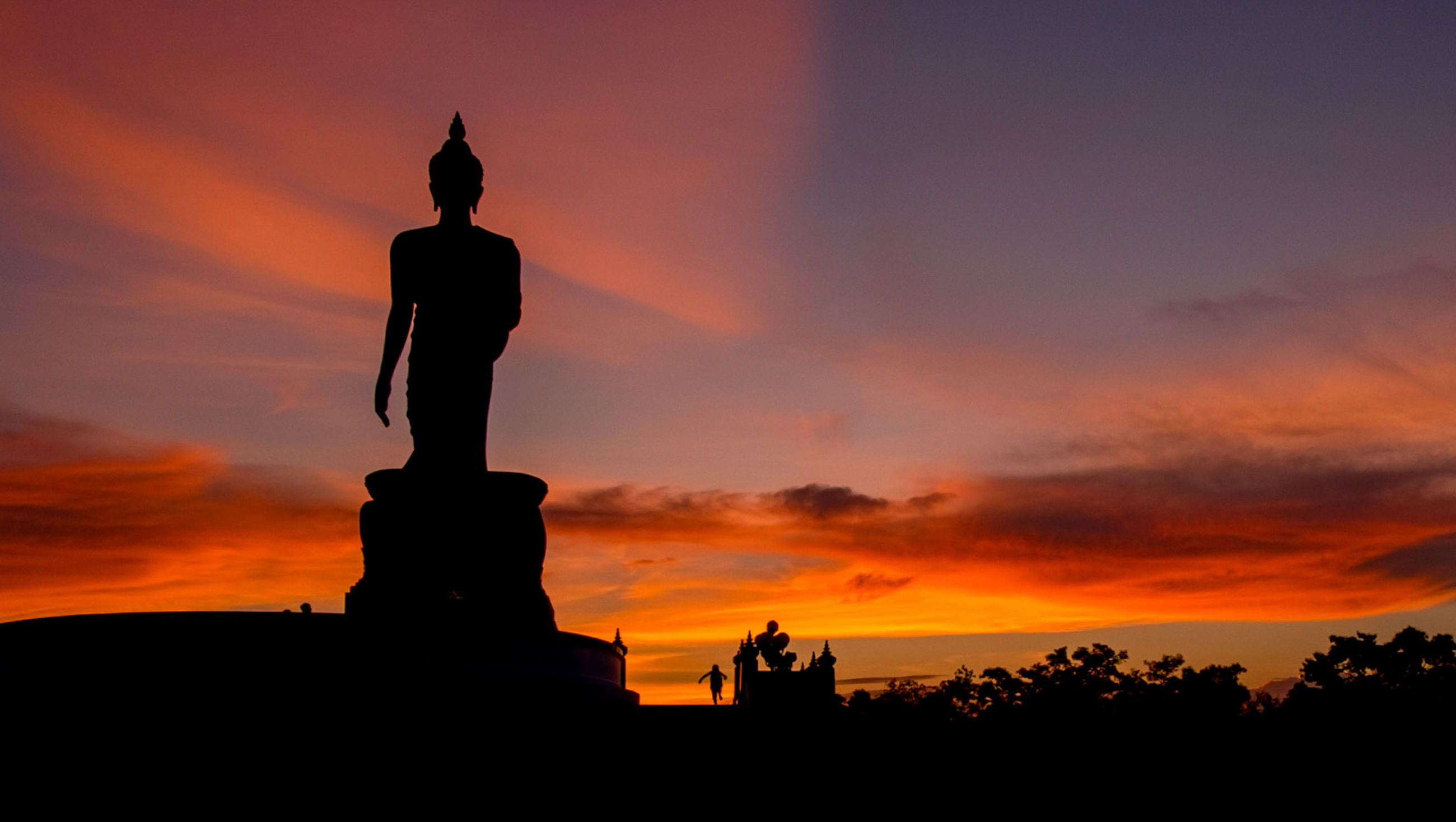 sunset, sky, no people, silhouette, sculpture, statue, outdoors