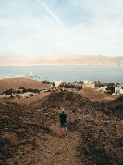 Alone Analogue Desert Travel Lonly Mountains One Person Sand Sea Sky Travel Destinations