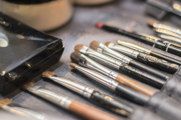 Close Up Of Make-Up Brushes