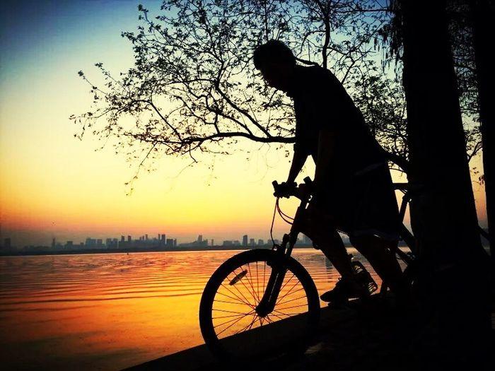 Sunset Bike Bicycle Scenics
