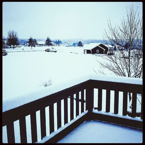 Hello winter. Took this with my Nexus 7, North of KC.Wintertime Snowfall Nexus 7 Snow