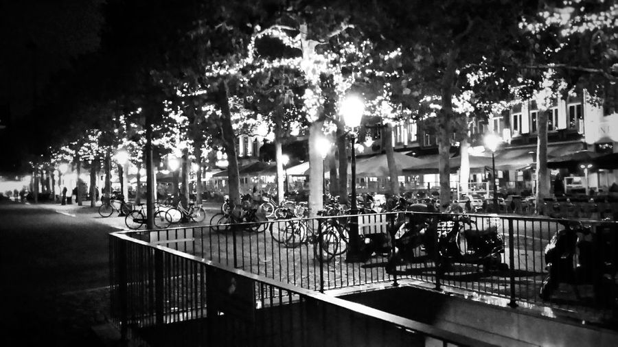 Night Cafe Black And White Vrithof Maastricht Tree Architecture Built Structure Plant Night Water Transportation Illuminated City No People Building Exterior Outdoors Reflection Mode Of Transportation Street Motor Vehicle Capture Tomorrow