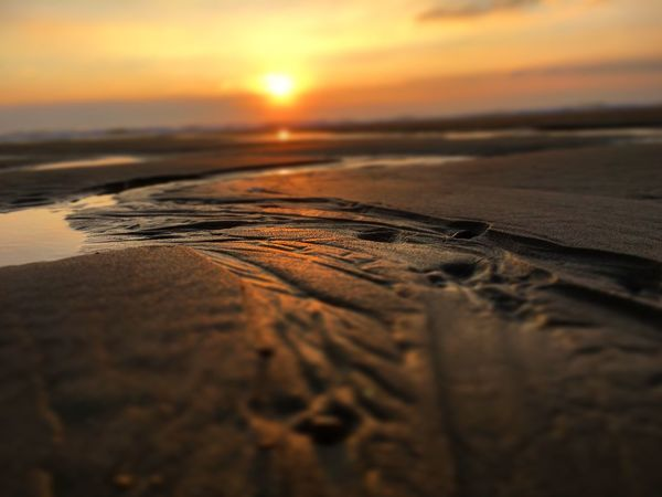 Coucher De Soleil Plage Landes Beach Photography