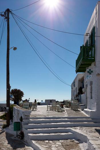 Amorgos chora street Amorgos Greece