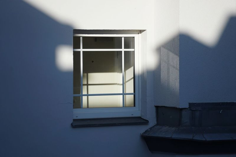 Close-up of window at home