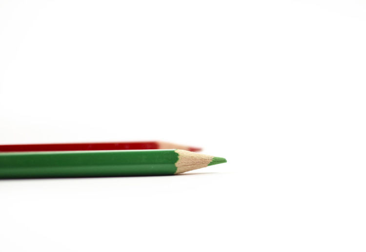 Colors Back To School Child Childhood Close-up Copy Space Homeworks No People Pencil School Studio Shot White Background