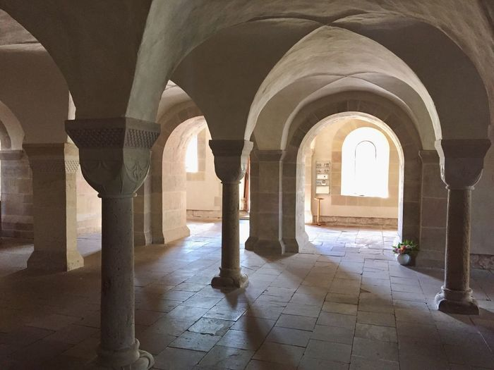 Kloster Lippoldsberg Arch Architecture Built Structure Architectural Column Indoors  Column Corridor Day Pillar Colonnade Place Of Worship History Paving Stone Arcade Archway The Past Passage The Way Forward Arched