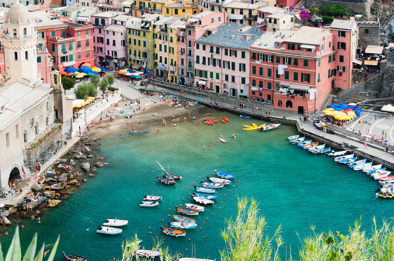 Cinque Terre - Italy Architecture Boat Building Exterior Built Structure Cinque Terre City City Life Cityscape Colors Elevated View Harbor High Angle View Mode Of Transport Nautical Vessel Residential Building Residential District Residential Structure Tourism Town TOWNSCAPE Travel Destinations Vernazza Water