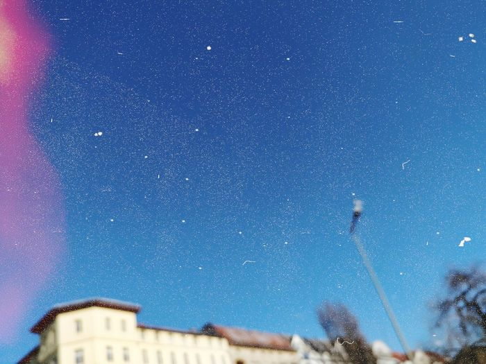 Copy Space Winter Blue Sky Cityscape Architecture Kreuzberg Out Of Focus Blurry Berlin