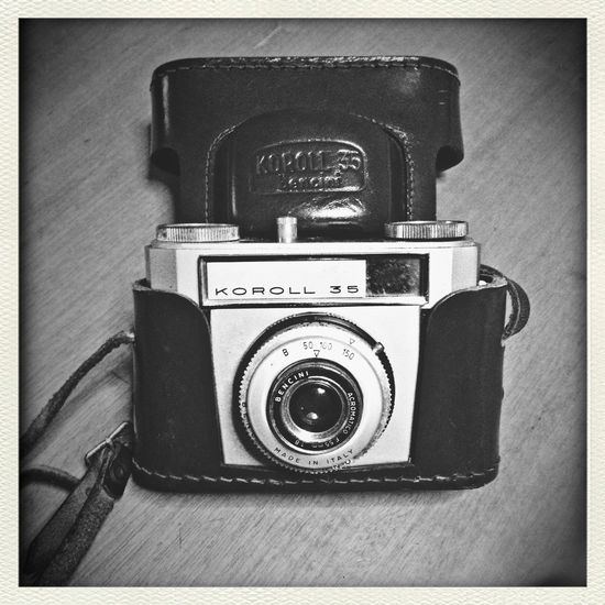 Vintage Camera Blackandwhite Photo
