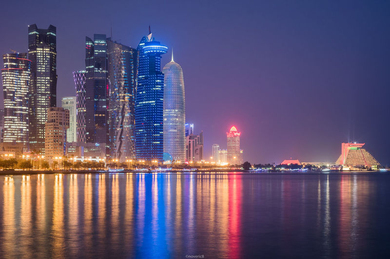 Corniche Long Exposure Longexposure Longexposurephotography Night Nightphotography Moodygrams Agameoftones Landscape_photography Landscape_Collection Landscape Night Skyscraper Illuminated City Urban Skyline Cityscape Architecture Reflection Water Travel Destinations