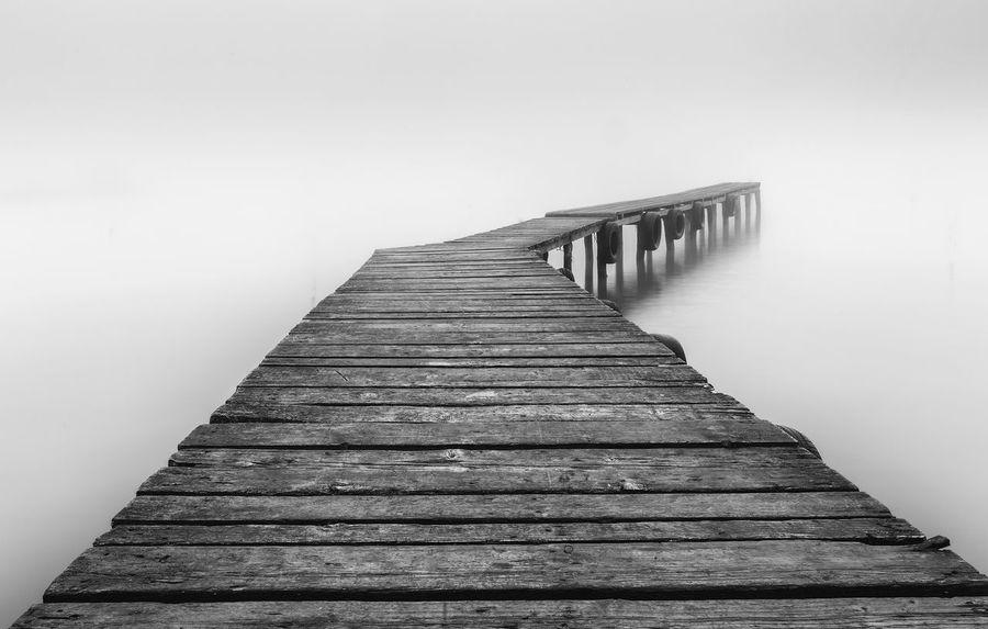 Absence Black&white Bridge Foggy Day Foggy Morning Foggy Weather Long Exposure Misty Morning Morning Ponton Water