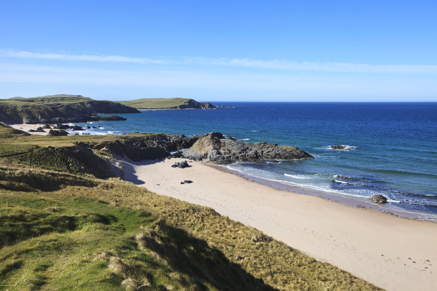 Durness - North and West Highlands Beach Beachphotography Beauty In Nature Coastline Day Durness Durness, UK Horizon Over Water Landscape Nature No People Outdoors Sand Sandy Scenics Scotland Scottish Highlands Sea Seascape Sky Travel Destinations Uk Vacations Water