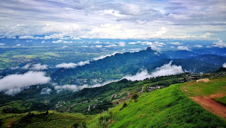 the natural view Cloud - Sky Beauty In Nature Nature Scenics Mountain High Angle View Landscape Aerial View Mountain Range Sky No People Outdoors Day Water Tree Thailand Phetchabun