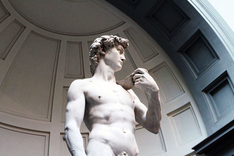 Architecture Day Human Representation Indoors  Low Angle View Male Likeness Michaelangelo No People Sculpture Statue