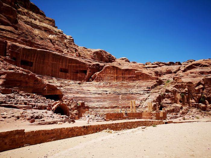 Ancient forum in petra, jordan