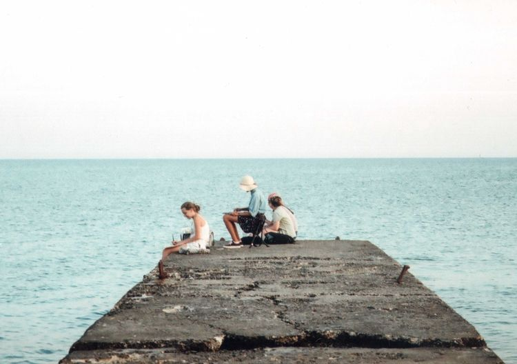 35mm 35mm Film Casual Clothing Clear Sky Drawing Film Girls Lifestyles Mju2 Mjuii Olympus Outdoors Sea Streetphotography Summer Summertime Travel Traveling Water Visual Creativity