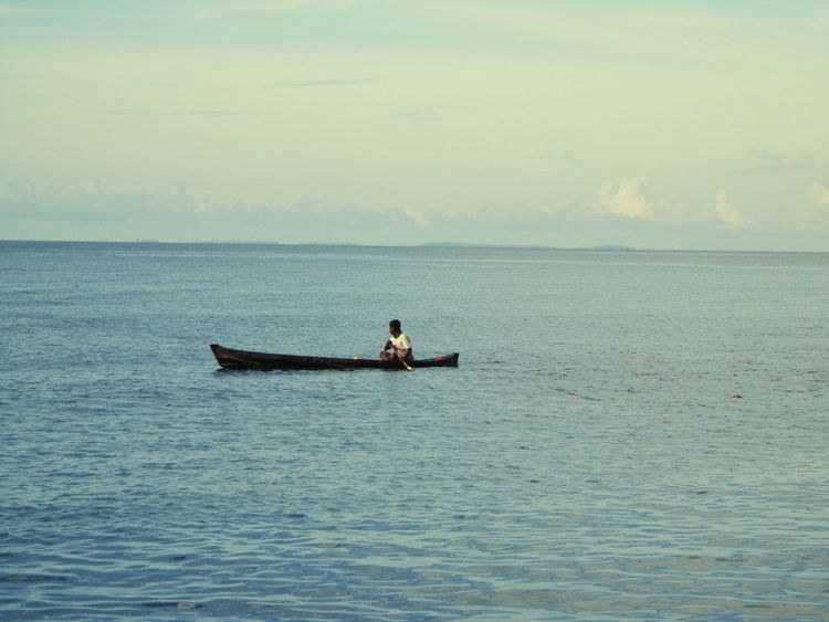 Traditional Fisherman Flores Sea And Sky Blue People