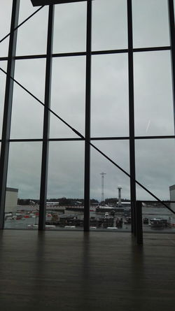 Airplane Architecture Bridge - Man Made Structure Building Exterior Built Structure City Cityscape Day Gardermoen Indoors  Modern Nature No People Planes Rainy River Sky Transportation Water Window