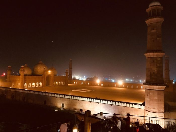 Architecture Built Structure Night Travel Destinations Tourism Dome History Spirituality Place Of Worship Mosque Mosque Architecture BadshahiMosque Lahore Pakistan Pakistani Traveller Tadaa Community Theholysin Connected By Travel