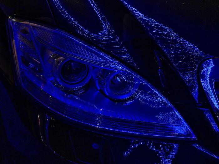 High angle view of illuminated lighting equipment at night