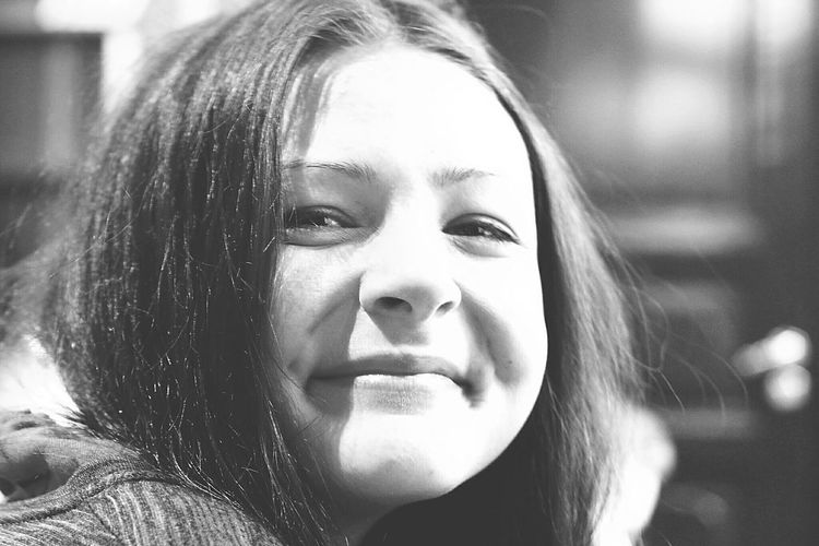 When the Happiness shines in someones Eyes. That is contagious! Portrait of Friend Good Friend Black And White Black And White Portrait