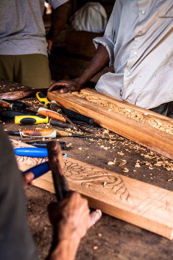 Zanzibar, Tanzania, Woodman at work. Art Wood Woodman Woodmans Worker Workers Workers At Work Zanzibar Zanzibar_Tanzania