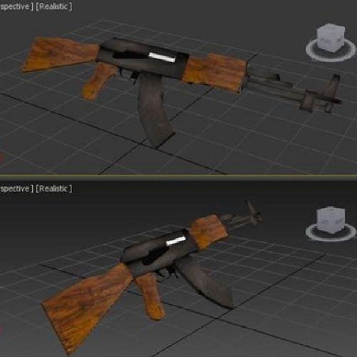 3dMax Tiridimeks AK47 Kalashnikov 3d