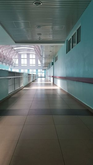 Pathways Walkways  Wall Indoor Glass Ceiling Corridor Architecture Built Structure Full Length One Person