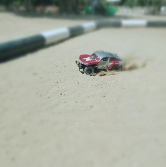 Sand Outdoors Car Racecar Race Remote Control Car Bokeh
