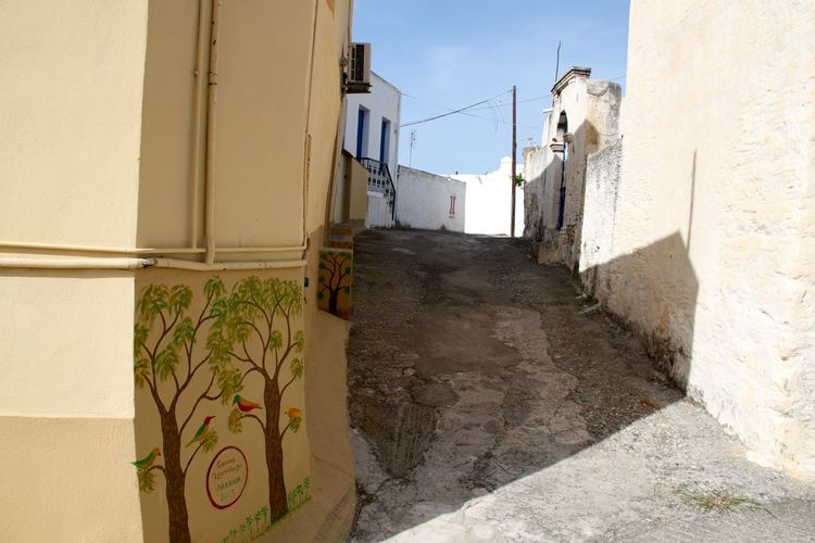 Architecture Building Exterior Built Structure Greece Lachania Narrow Street No People Outdoors Residential District Rhodes Ródos Street Architecture Building Wall - Building Feature Wall