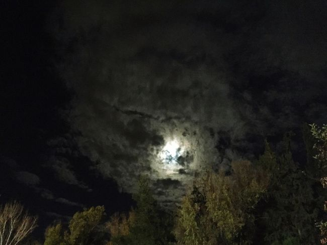 Moon Clouds Night